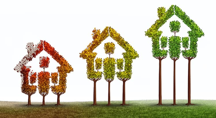 five year change in home prices